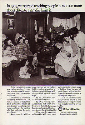 1971 Metropolitan Life Insurance Visiting Nurse Disease Prevention Ad - Paperink Graphics