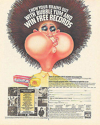 Bubble Yum 1988 Bubble Gum Prize Premium Promo Ad - Paperink Graphics