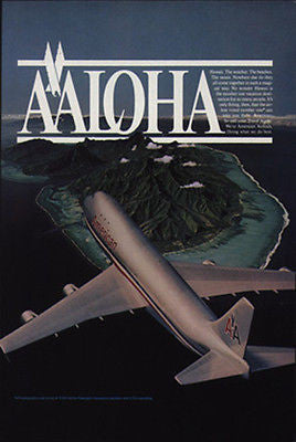 American Airlines First Flying Choice to Hawaii Top Vacation Destination 1981 Ad - Paperink Graphics