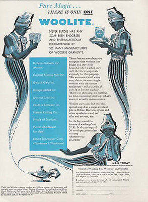 GENIE Genies Magic Lantern Woolite 1956 Cleaning AD - Paperink Graphics