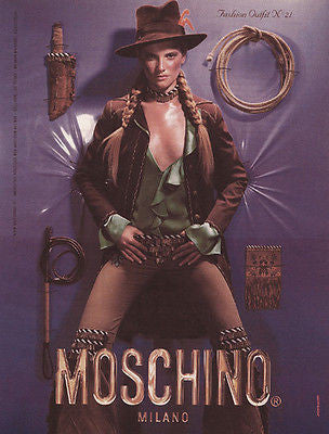 Carolyn Murphy Moschino Western Fashion Jeans 2000 Ad Fashion