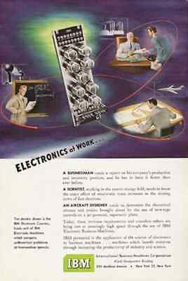 IBM 1950 AD Electronic Counter Machines Compute Math At Tremendous Speeds - Paperink Graphics