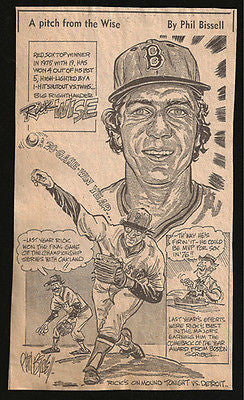 Rick Wise Baseball Sports Newspaper Clipping