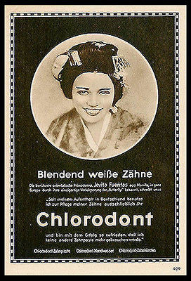 German Dental Toothpaste Chlorodont Sepia Geisha Photo 1927 Ad - Paperink Graphics