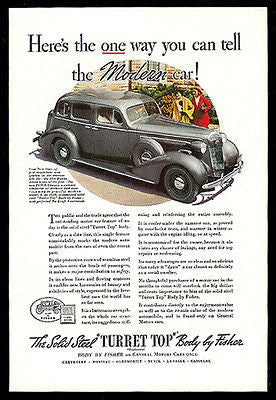 Buick Century Modern Turret Top Fisher Body 1935 Photo Ad
