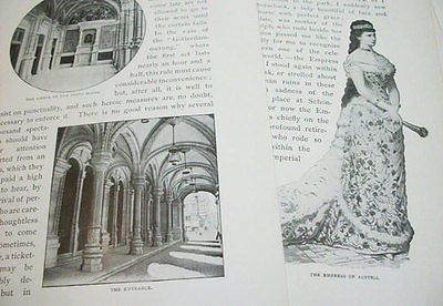Antique Vienna Paper Illustration Pack of 10 Mixed Media Collage Text Prints