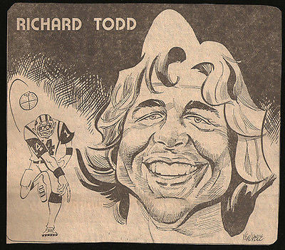 Richard Todd Football Sports Newspaper Clipping