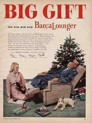 BarcaLounger 1956 AD Modern Mid Century Furniture Christmas Tree