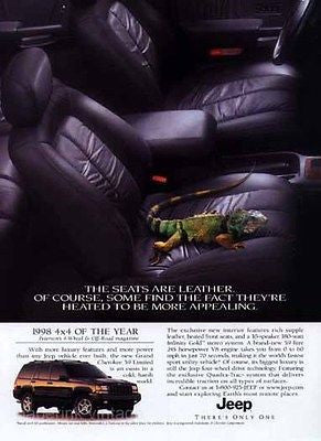 1998 Jeep Cherokee Limited Leather Seats 4x4 of the Year Ad Camilion - Paperink Graphics