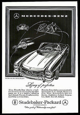 Mercedes-Benz 300 SL Roadster Convertible1957 Print Ad