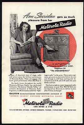 Ann Sheridan Actress Motorola Radio Ad 1945 Stage Star Movie