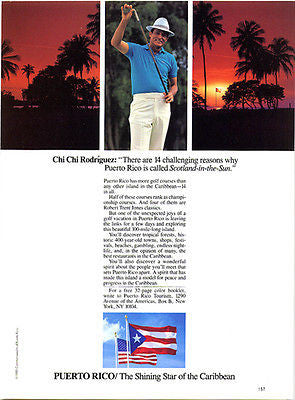 Chi Chi Rodriguez Golfer Professional Golfing Puerto Rico Caribbean Ad 1986