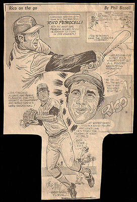 Rico Petrocelli Red Sox Sports  Newspaper Clipping 1970s Basebal
