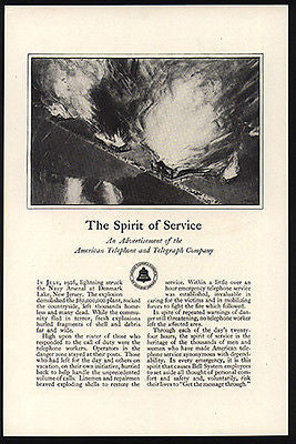 Denmark Lake NJ Lightning DISASTER Explosion 1928 AD BELL TELEPHONE