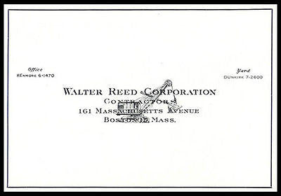 Construction Contractor Walter Reed Corp Boston Steam Shovel 1930s Ad - Paperink Graphics