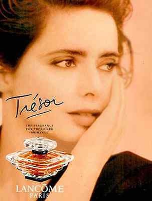 1999 AD Perfume TRESOR Lancome Paris Geometric Style Illustrated Perfume Bottle - Paperink Graphics