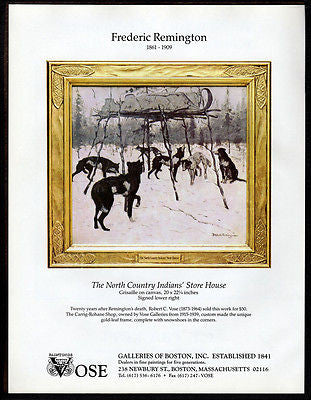 Wolves Indian Stores Gallery Art AD 1994 Frederic Remington Artwork Advertising