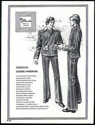 Leisure Suits Two Men 1975 Fashion Ad