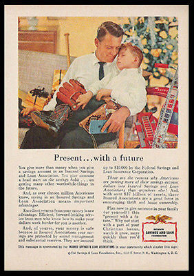 Christmas Tree Toys Boy Naps Daddy 1956 Photo Ad - Paperink Graphics