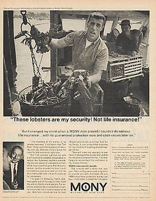 Lobsterman Occupational Lobster Boat Fishing MONY 1967 Financial Photo AD - Paperink Graphics