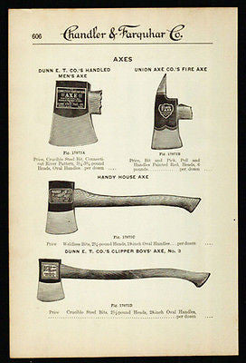 Axes Dunn and Union 1919 Ax Tool AD - Paperink Graphics