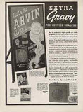 Arvin Car Radio 1938 AD Rolling Sign Board Dealers Wanted Pyramid Sales