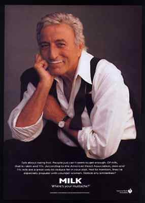 Tony Bennett MILK Where's your mustache? 1995 AD