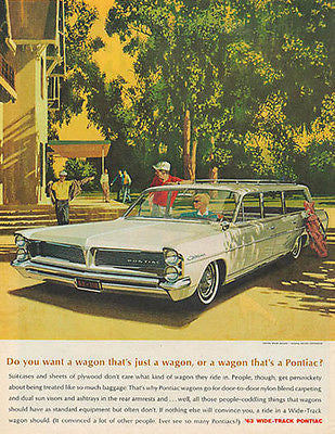 Pontiac Station WAGON Golf Club 1963 Fitzpatrick, Van Kaufman ADAF/VK Art Print AD - Paperink Graphics