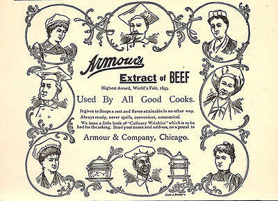Beef Extract  Eight 8 Chefs Armour Print 1894 AD - Paperink Graphics