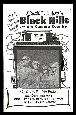 Camera Country AD 1961 Black Hills South Dakota Camera Illustrated Travel  Tour - Paperink Graphics