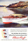 CHRIS CRAFT 36 Ft. Double Stateroom Cruiser 1945 AD Paperink Graphics - Paperink Graphics