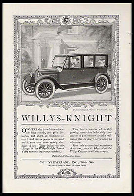 Willys-Knight Chauffeur Belgian Embassy 1920 Print Ad - Paperink Graphics