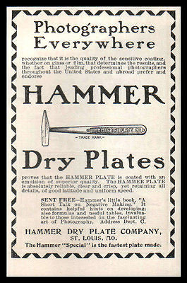 Dry Plates AD 1901 Photography Hammer Superior Emulsion Camera Photograph AD