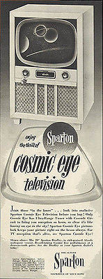 Sparton TV 1952 Ad Cosmic Eye Television Space Theme