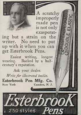 Esterbrook Pens 250 Styles Huge Illustrated Double Elastic Nib Camden NJ 1914 AD