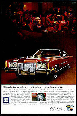 Cadillac Eldorado 2 Door Hardtop Automobile1972 Photo Ad