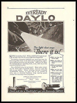 Eveready Daylo Flashlight 1917 Ad Hardware Tools Accessories Advert
