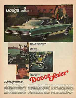 Dodge Monaco Equestrian Dodge Fever Photo 1968 Automobile Transportation Ad - Paperink Graphics