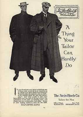 Stein-Bloch Co. Tailors for Men Fifth Ave NY 1908 Gay Interest Ad