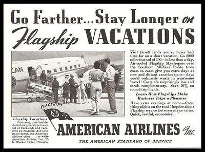 American Airlines Flagship1938 Photo Ad - Paperink Graphics