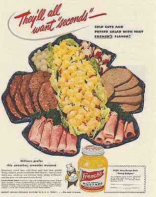 Hot Dan The Mustard Man French's Cold Cuts 1949 AD - Paperink Graphics