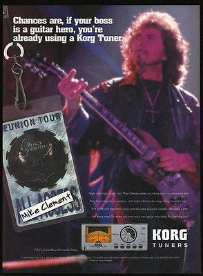 Mike Clement Black Sabbath 2000 Ad Korg GT-12 Guitar Bass Chronmatic Tuner Audio