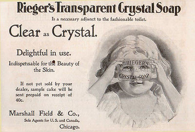 Adorable Toddler Peeks thru Crystal Soap 1897 Print AD - Paperink Graphics