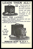 1898 Manhattan Optical Camera AD Bo Peep B Camera AD Wee Wizard Cycle