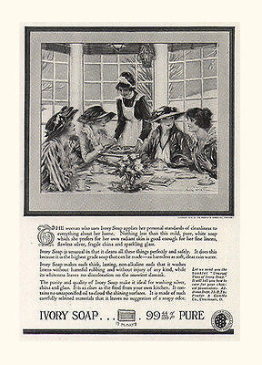 Ivory Soap Ad 1919 Hatted Women Served Afternoon Tea Paul Stahr Tea Party