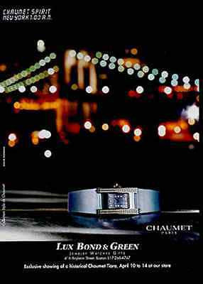 2000 Watch AD Chaumet Paris Watch Collection Ad Jewelry Magazine Advertisement