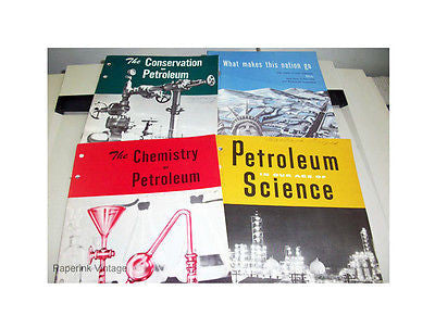 American Petroleum Institute Oil Industry Educational 1955-56 Booklets Lot of 4 - Paperink Graphics