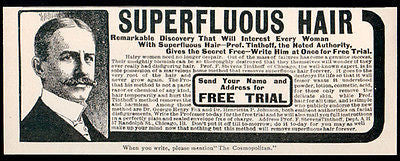 Hairy Women Don't Despair Free Trial Home Removal Prof Tinthoff 1902 Beauty Ad