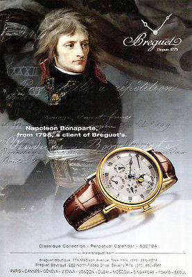 2008 Watch Ad Napolean Breguet Perpetual Calendar Watch Graphic Arts - Paperink Graphics