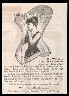 Coraline Corsets Woman Silhouette on Corset 1891 AD
